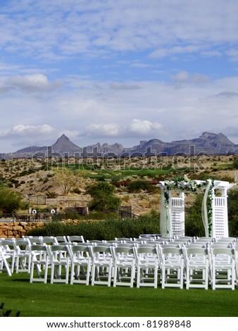 Wedding in the Desert - stock photo