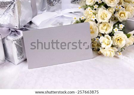 Wedding invitation. - stock photo