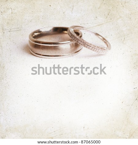 wedding invitation  - stock photo