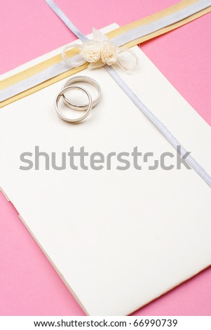 Wedding invitation, background with copy space - stock photo