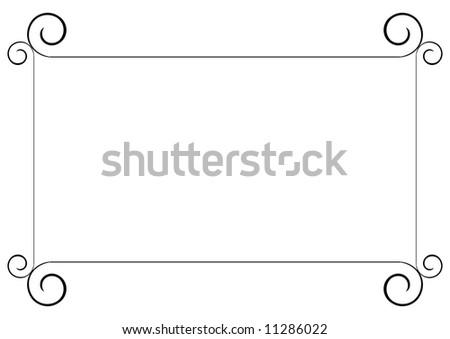 wedding invitation design - stock photo