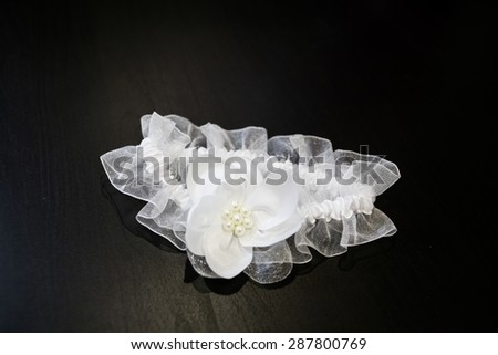 wedding lace and accessories - stock photo