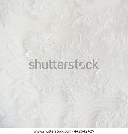 Wedding lace texture close up