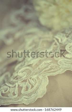 Wedding lace with flowers - stock photo