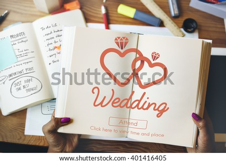 Wedding Love Married Happiness Romance Two Concept - stock photo