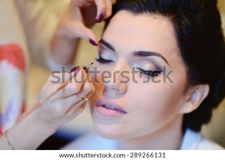 Wedding Makeup Artist Making a