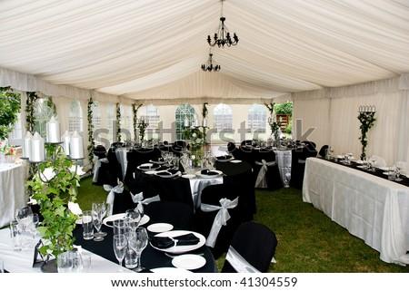 wedding marquee - stock photo