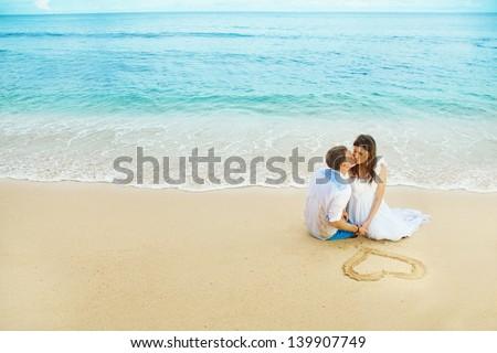 wedding on stormy weather - stock photo