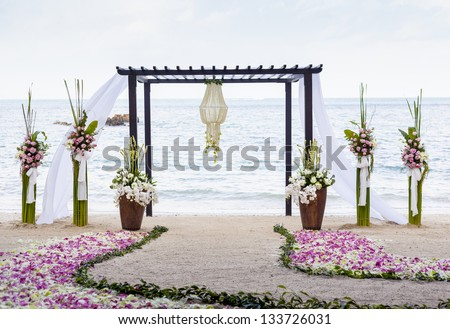 Wedding on the beach . - stock photo