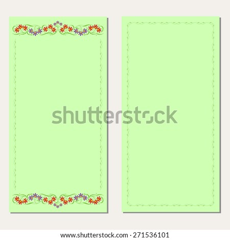 Wedding or invitation card with abstract floral background