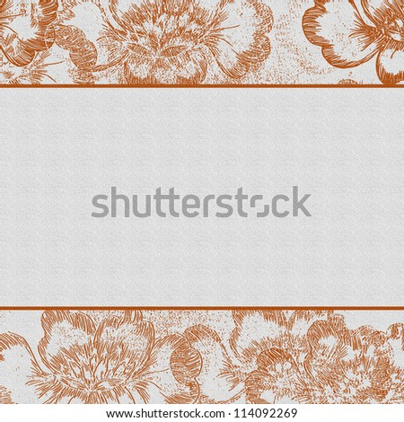 wedding or party invitation background template in orange - stock photo