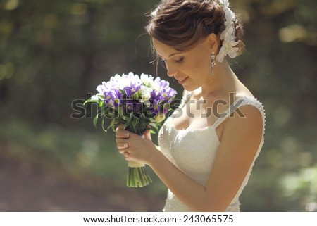 wedding photography concept of family happiness - stock photo