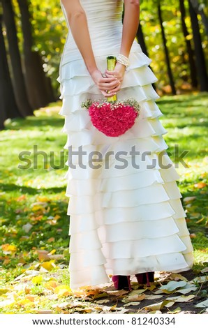 Wedding pink Bouquet - stock photo