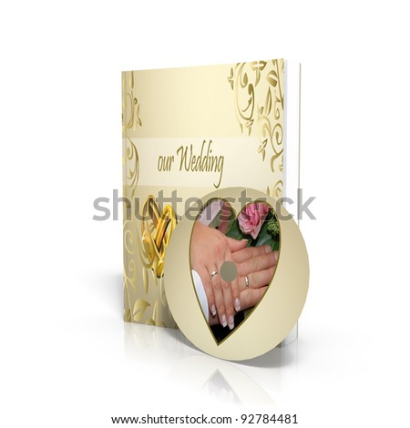 wedding portfolio - 3d render - stock photo