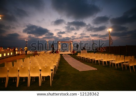 wedding putdoor - stock photo