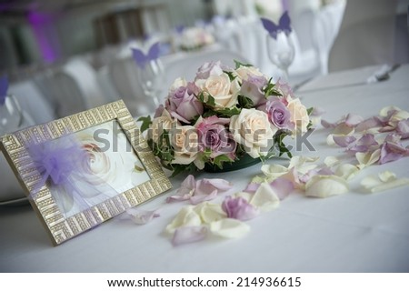 wedding reception - stock photo