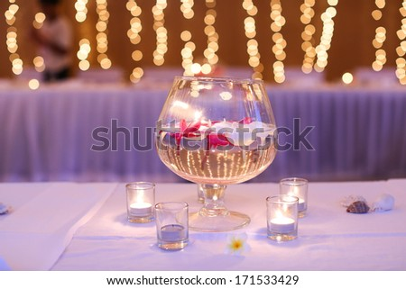 Wedding reception venue. - stock photo