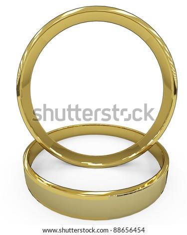 wedding ring bird eye view - stock photo