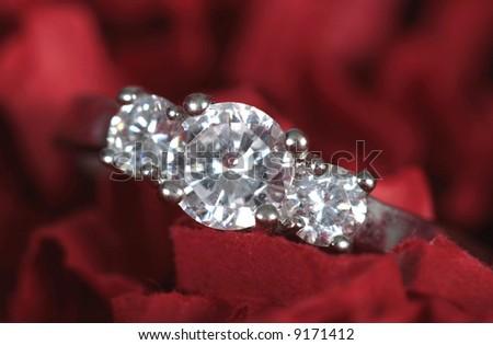 Wedding Ring taken closeup - stock photo