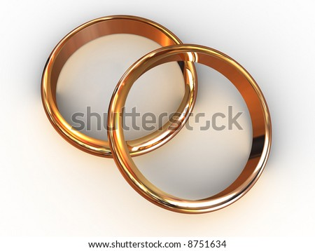 Wedding rings. 3d