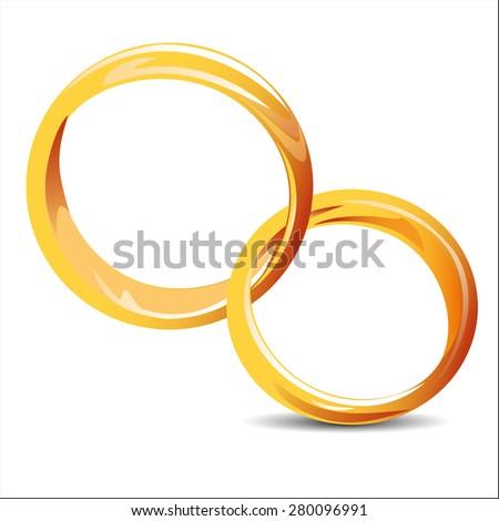 wedding rings icon - stock photo