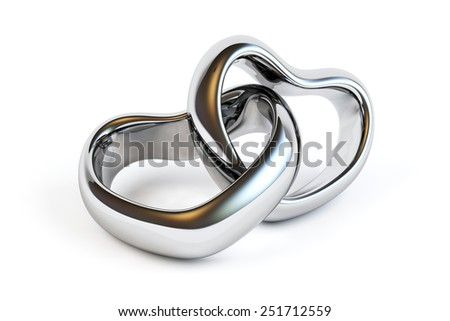 Wedding rings isolated - stock photo