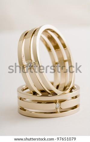 Wedding rings of Forever Love - stock photo