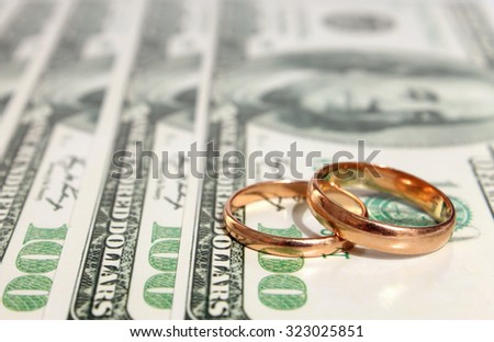 Wedding rings on the dollar