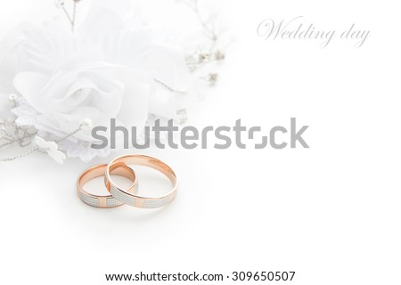 Wedding Rings On Wedding Card On Stock Photo 309650507 Shutterstock
