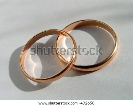 Wedding rings. Symbol of love and fidelity.