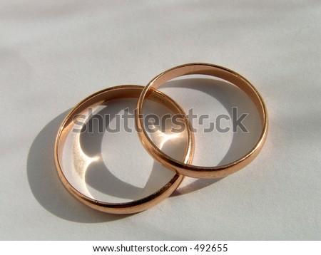 Wedding Rings Symbol Love Fidelity Stock Photo Royalty Free 492655