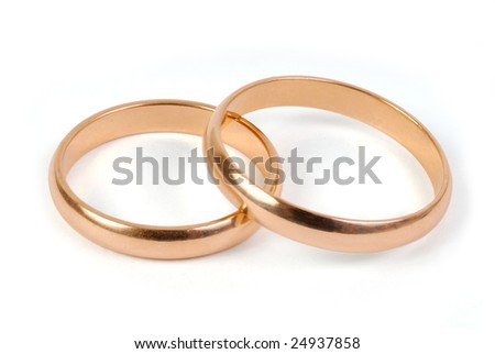 Wedding rings with clipping pass