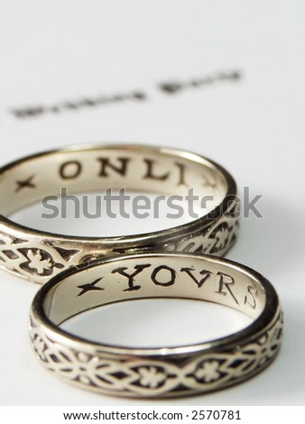Wedding Rings With Inscription Yours
