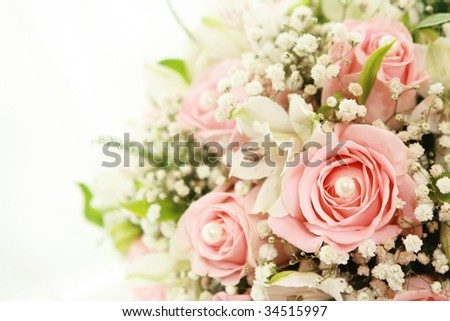 Wedding's bunch of flowers