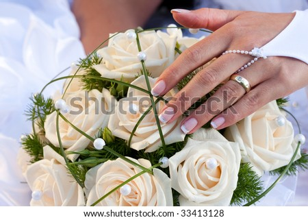 wedding series 54. Bride with her new ring