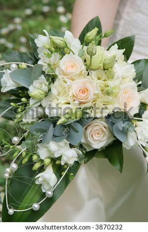 Wedding series 23. Wedding bouquet from beautiful roses