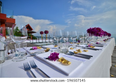 wedding set up - stock photo