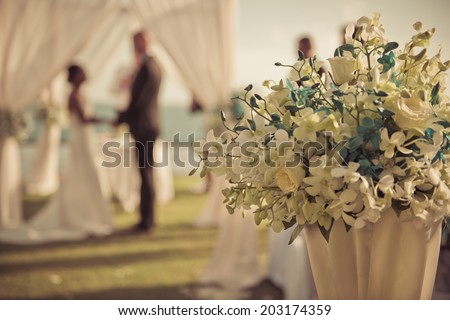 Wedding setting - stock photo