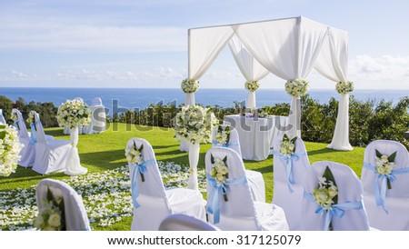 Wedding setup - stock photo