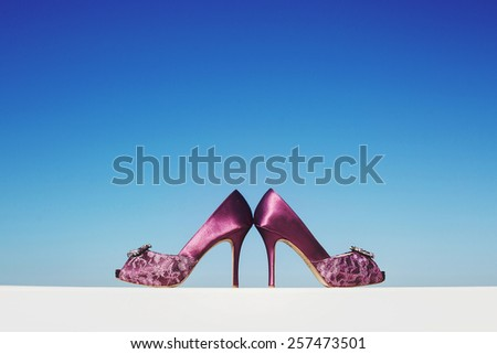 wedding shoes - stock photo