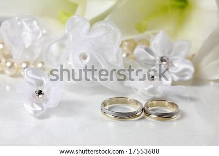 Wedding still life - stock photo