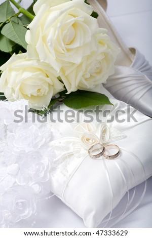 wedding still life scene with rings