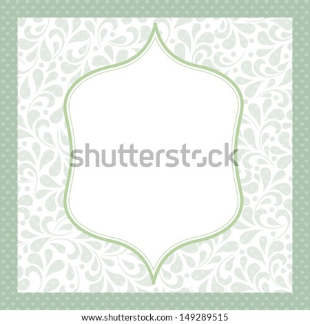 Wedding styled card with floral ornament design. Perfect as invitation or announcement. For vector version, see my portfolio.