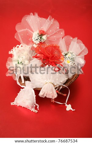 Wedding sweets prepared for marriage - stock photo