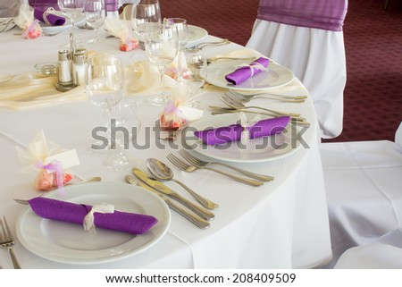wedding table - stock photo