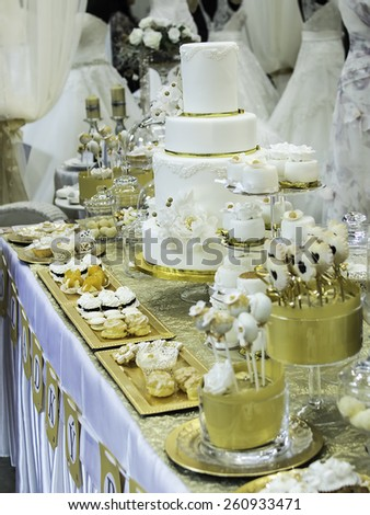 wedding table - stock photo