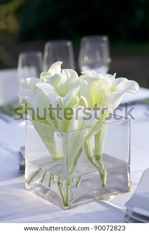Wedding table outdoor. 