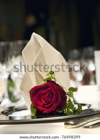 Wedding table set - stock photo