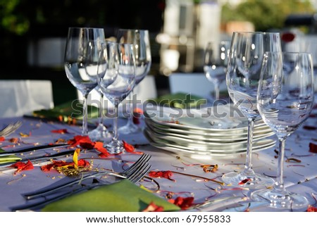 Wedding table set outdoor.