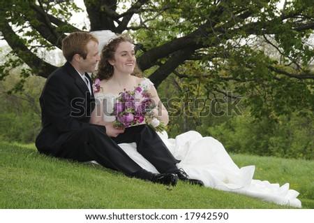Wedding togetherness - stock photo